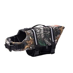 GOGO Hound Life Jacket, Dog Saver Life Vest DARKCAMO-L