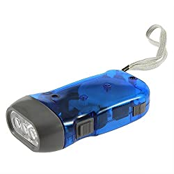 AndAlso Hand Pressing Flash Light - No Battery No Bulb, Simply Shake to Recharge