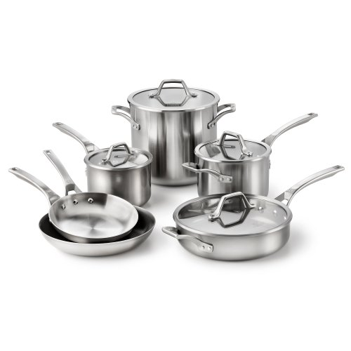 Calphalon Stainless Steel AccuCore Cookware Set, Stainless Steel