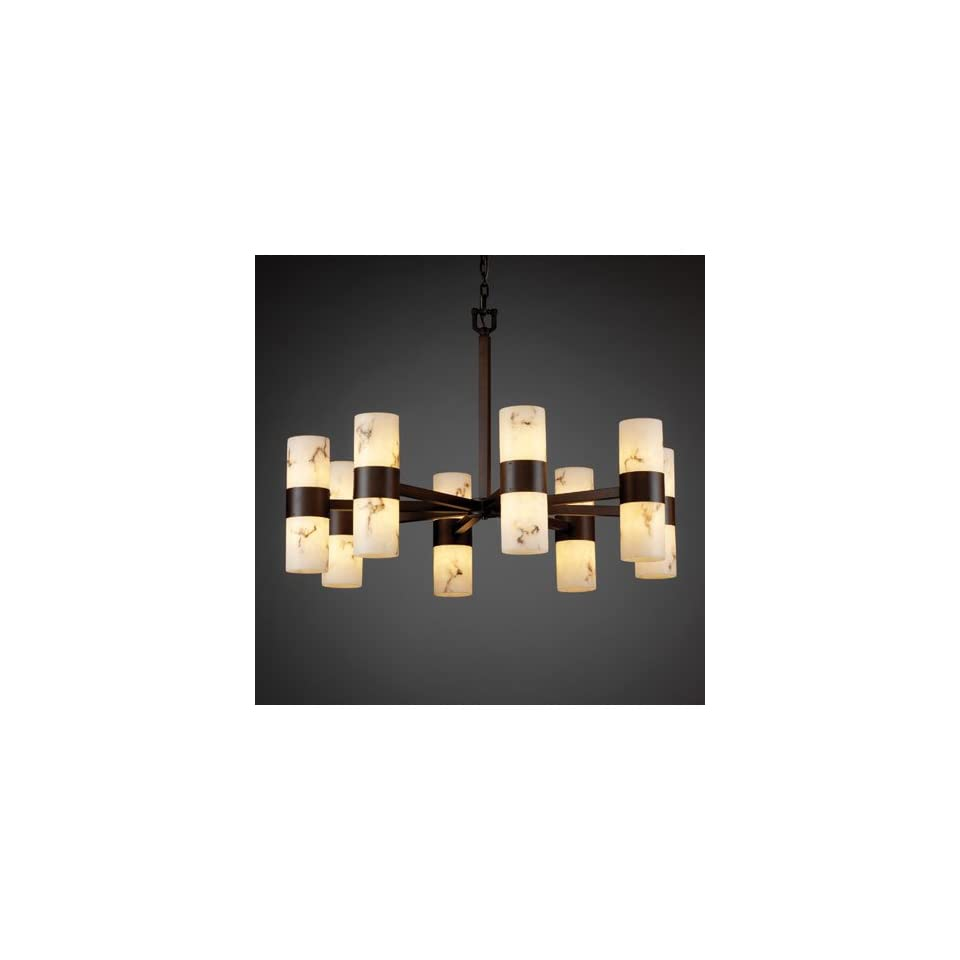 Justice Design Group FAL 8756 10 DBRZ Lumenaria 16 Light Chandeliers in Dark Bronze