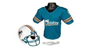 Miami Dolphins Football Helmet and Jersey Top Set by Franklin