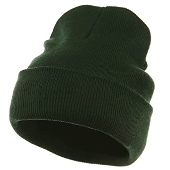 Superior Cotton Knit Long Beanie-Dk Green