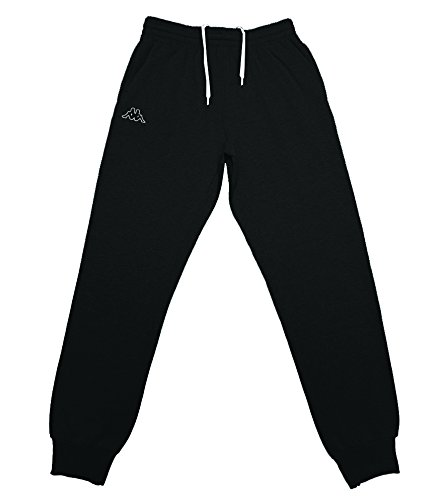 kappa-mens-vesame-slim-fit-fleece-jogger-pants-black-white-medium