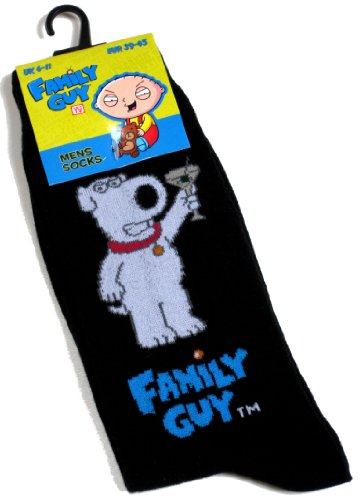 Mens Family Guy Brian Griffin Drinking A Cocktail Socks 6-11