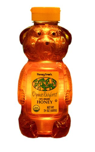 HoneyTree's Organic Rainforest Honey, 24-Ounce Plastic Bears (Pack of 3)