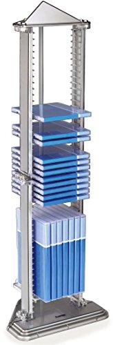 Hama-Pyramid-CD-Stnder-fr-bis-zu-50-CDs-14-DVDs-oder-18-Blu-raysmit-zwei-variablen-Einlegebden-silber