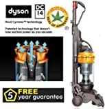 DYSON DC14 ORIGIN ALLERGY APPROVED UPRIGHT BAGLESS VACUUM CLEANER STEEL/YELLOW