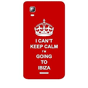 Skin4gadgets I CAN'T KEEP CALM I'm GOING TO IBIZA - Colour - Red Phone Skin for MICROMAX CANVAS DOODLE3 (A102 )
