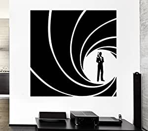 top top wandsticker vinyl aufkleber agent james bond spy. Black Bedroom Furniture Sets. Home Design Ideas