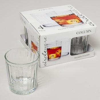 Circleware Column 4 Piece 13 Oz DOF Whiskey Glass Set