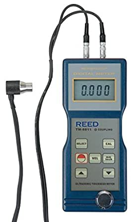 """Reed TM-8811 Ultrasonic Thickness Gauge, 0.05 to 7.9""""/1.5 to 200mm Range, 0.004""""/0.1mm Resolution, +/-0.5% Accuracy"""