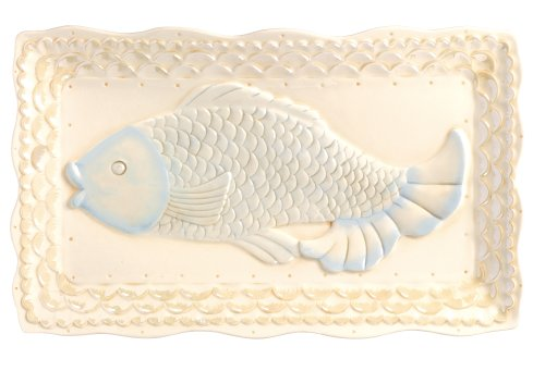 Grasslands Road Ceramic Fish Platter, 14-Inch, Set Of 2