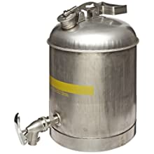 "Eagle 1327 Faucet Safety Can, 5 Gallon Capacity, 11-1/4"" Width x 15-7/8"" Depth"
