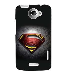 printtech Superhero Logo Back Case Cover for HTC One Max Dual SIM