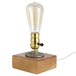 Loft Vintage T45 Edison Bulb Table Lamp Dimmable Water Pipe Light Home Bar Decor from Sunix