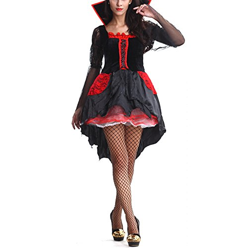 Women Sexy Queen Halloween Party Devil Pirate Vampire Fancy Dress Outfit Costume