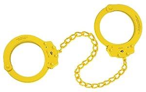 Peerless Handcuff Company, Leg Iron, Model 703Y, Leg Iron - Yellow Finish