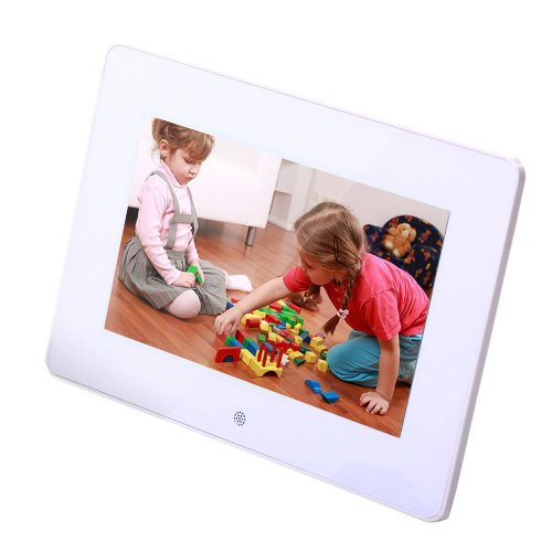 """Magicdots Portable 7"""" Multi Function High Resolution 800*480 Lcd Widescreen(4:3) Digital Photo Frame Picture Frame Photoframe Video Player Music Player Mp3 Mp4 Sd/Mmc/Ms Solt Remote Control"""
