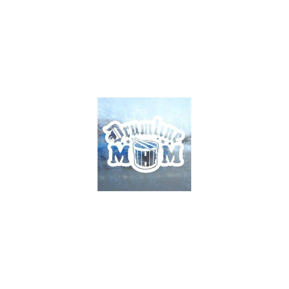 Drumline Mom White Decal Car Laptop Window Vinyl White Sticker