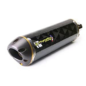 Two Brother V.A.L.E. M-2 Small Oval Carbon Fiber Slip On Honda Street Bike Exhaust - Size : Honda CBR600RR 2007-2010