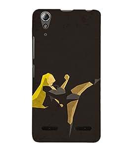 EPICCASE Girl in Action Mobile Back Case Cover For Lenovo A6000 (Designer Case)