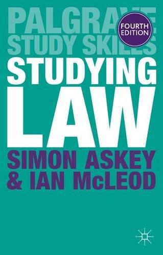 Studying Law (Palgrave Study Skills)