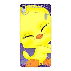 Cute Yellow Tweet Back Case Cover for Lenovo K3 Note