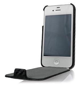 DONZO Flip Carbon Tasche für Apple iPhone 4 4S Schwarz