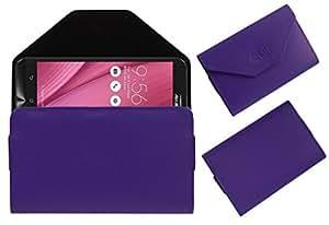 Acm Premium Flip Flap Pouch Case For Asus Zenfone Go Zb450kl Mobile Leather Cover Magnetic Closure Purple