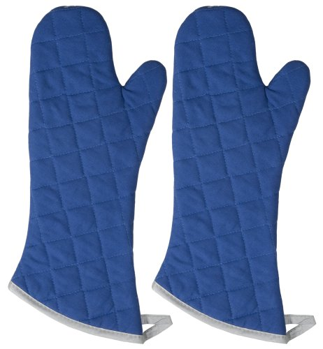 Now Designs 545104a 17-Inch Flameguard Oven Mitt, Set of Two, Royal