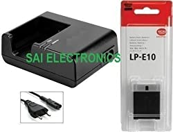 LC-E10 Charger + LP-E10 Battery For EOS1100D 1200D X50