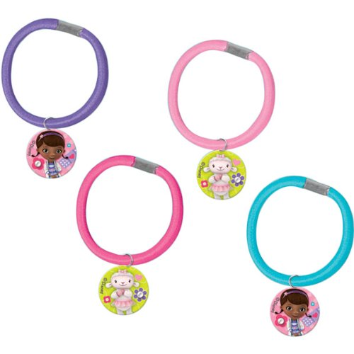 4-Piece Doc McStuffins Hair Pony-O Party Favor