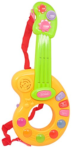 Techege Toys Childs Learning Guitar Fun Sounds Infrared Play Kids Beginner Guitar Lights and Sounds Learn'n'Play
