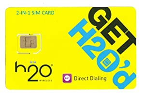 H2O Micro / Mini SIM Card for any Unlocked GSM Phone