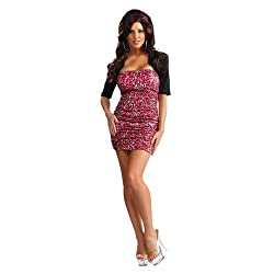Jersey Shore: Snooki Pink Leopard Dress Costume