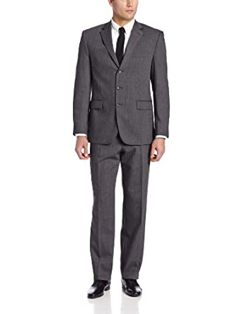 Perry Ellis Men's Runner Suit, Charcoal, 36 Small