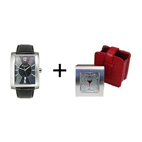 set-cadeau-homme-kenneth-cole-comportant-reveil-montre-en-cuir-noir