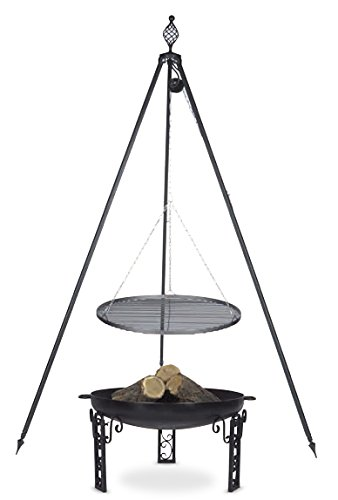 Schwenkgrill mit Dreibein Royal, Rost 50 cm aus Rohstahl, Feuerschale #40 60 cm online kaufen