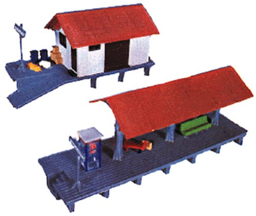 Life-Like Trains  HO Scale Building Kits - Train Station (Ho Model Train Building Kits compare prices)