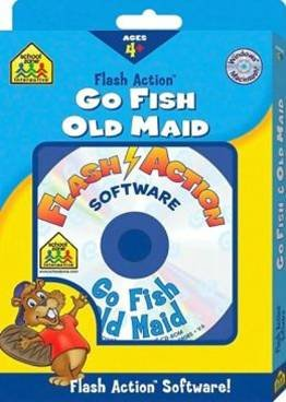 School Zone Flash Action: Go Fish & Old Maid CD-ROM