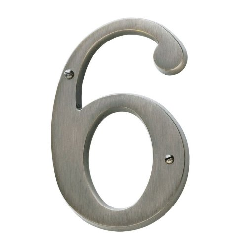 Baldwin 90676030 76 6 House Number Bright Brass Home