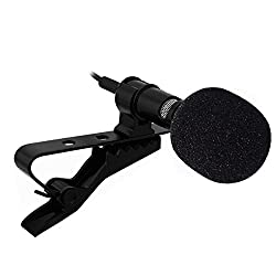 InnoGear Lavalier Lapel Microphone Clip-on Omnidirectional Condenser Mic for Apple iPhone, iPad, iPod Touch, Samsung Android and Windows Smartphones Film Interviews Voval Video Recording (Black)