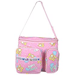 WALLETSNBAGS Women's PVC Polyester Twin Pocket Baby Diaper Bag-Pink