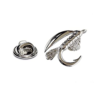 Fly Fishing Hook Lapel Pin Badge X2AJTP471 by GTR-Lapel Pin Badge