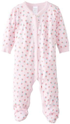 Lamaze Baby-Girls Newborn Girls 1 Pack Sleep N Play With Ruffle, Roses, 3-6 Months
