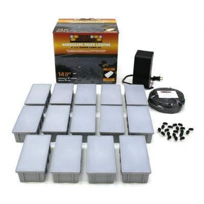 14 pack installation kit low voltage landscape lighting kits. Black Bedroom Furniture Sets. Home Design Ideas