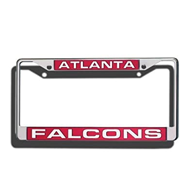 NFL Laser-Cut Chrome License Plate Frame