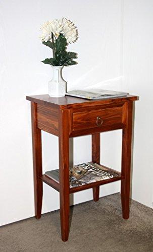 Massivholz-Nachtkonsole-kirschbaumfarben-Nachttisch-Beistelltisch-Nachtschrank
