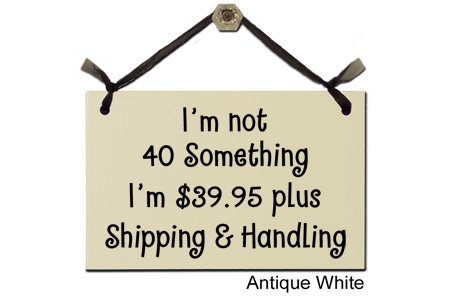 I'm not 40 something I'm $39.95 plush Shipping & Handling-Decorative Sign S255-W