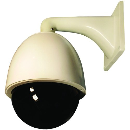 Security Labs Weatherproof PTZ Dome Security Camera with 22x Zoom (Color)